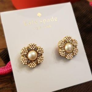 Kate Spade Pearl Flower Earrings